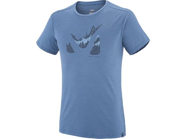 Millet Akna Wool Miehet Lyhythihainen paita , sininen